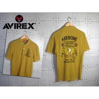 アヴィレックス(AVIREX)のAVIREX・アビレックスイーグルプリント・半袖ポロシャツ・マスタード・Lサイズ(ポロシャツ)