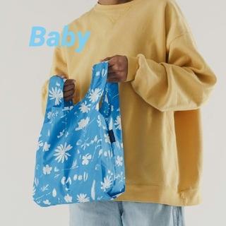 【おまとめ専用】BAGGU サンプリントフラワーブルーB&プリムローズB(エコバッグ)