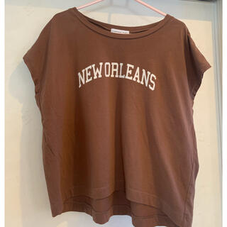 チャオパニックティピー(CIAOPANIC TYPY)のciaopanic typy ブラウン トップス(Tシャツ(半袖/袖なし))