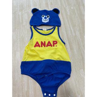 アナップキッズ(ANAP Kids)のアナップロンパース+帽子(ロンパース)