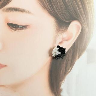 No.090:ハンドメイドビーズの3色ピアス(ピアス)