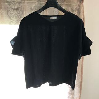 ベルーナ トップス ブラック(シャツ/ブラウス(半袖/袖なし))