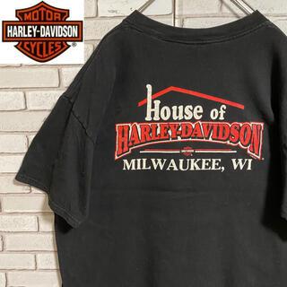 ハーレーダビッドソン(Harley Davidson)の90s 古着 ハーレーダビッドソン XL USA製 バックプリント ゆるだぼ(Tシャツ/カットソー(半袖/袖なし))