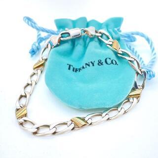ティファニー(Tiffany & Co.)の希少 美品 ティファニー 喜平 コンビ ブレスレット BB47(ブレスレット)