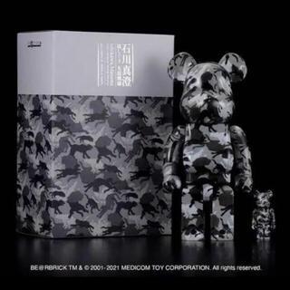 BE@RBRICK 石川真澄「猫しぐさ名採模様」100% & 400%(彫刻/オブジェ)