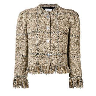 ドゥーズィエムクラス(DEUXIEME CLASSE)のSONIA RYKIEL Fringe Tweed Jacket ジャケット(ノーカラージャケット)