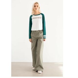 アリシアスタン(ALEXIA STAM)のALEXIASTAM Two Tuck Wide Straight Pants(カジュアルパンツ)