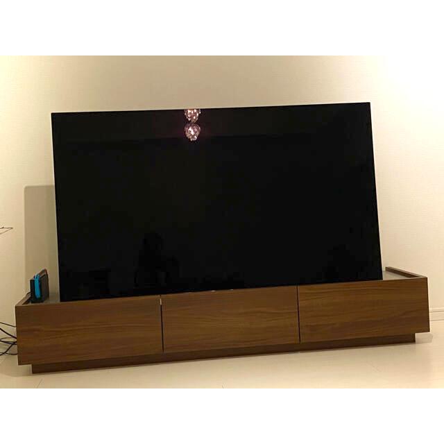 ACTUS(アクタス)のLOWYAロウヤ テレビボード ブラウン シルバー インテリア/住まい/日用品の収納家具(リビング収納)の商品写真