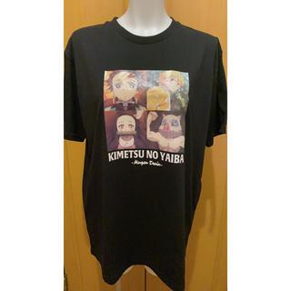 バンダイ(BANDAI)の値下げしました!!! 鬼滅の刃 オリジナル tシャツ 半袖 ブラック(Tシャツ/カットソー(半袖/袖なし))