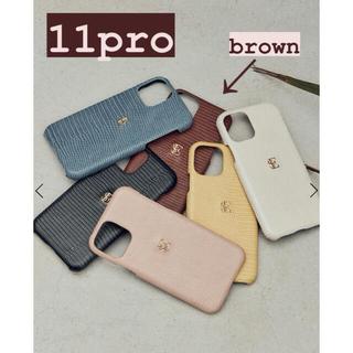 エイミーイストワール(eimy istoire)の新品未使用!eimy  iPhoneケース11pro  brown(iPhoneケース)
