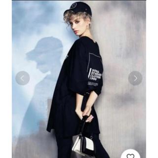 ダブルスタンダードクロージング(DOUBLE STANDARD CLOTHING)のダブスタ半袖Tシャツ黒フリーサイズ(Tシャツ(半袖/袖なし))