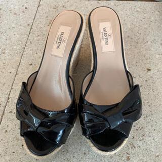 ヴァレンティノ(VALENTINO)のヴァレンティノ レディース 靴 サンダル リボン パンプス 22.5(サンダル)