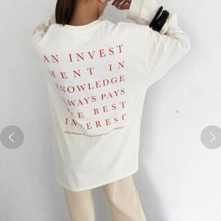 トゥデイフル(TODAYFUL)の新品未使用タグ付き トゥデイフル バックプリントロンT(Tシャツ(長袖/七分))