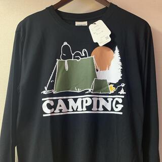 スヌーピー(SNOOPY)の新品 PEANUTS  スヌーピー ウッドストック 長袖 Tシャツ  Lサイズ(Tシャツ/カットソー(七分/長袖))