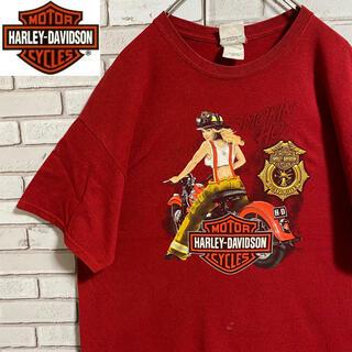 90s 古着 ハーレーダビッドソン  L バックプリント ビッグシルエット(Tシャツ/カットソー(半袖/袖なし))