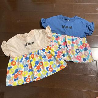 ニシマツヤ(西松屋)の90cm 新品未使用 Tシャツ 2枚セット(Tシャツ/カットソー)