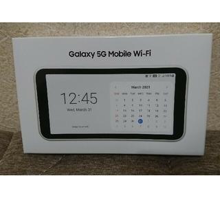 ギャラクシー(Galaxy)の新品未使用 Galaxy 5g Mobile Wi-fi SCR01 White(PC周辺機器)
