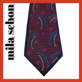 ミラショーン(mila schon)のmila schミラショーン 高級シルク 総柄 ネクタイ イタリア製(ネクタイ)
