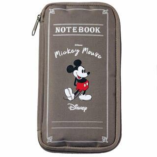 ディズニー(Disney)のSPRiNG 10月号【付録のみ】ミッキーマウスデザイン ノート風マルチポーチ(ファッション)