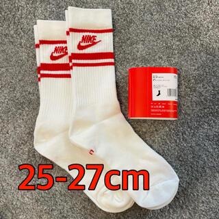 ナイキ(NIKE)の【新品未使用】NIKE エッセンシャル ソックス 靴下 2足セット 赤白(ソックス)