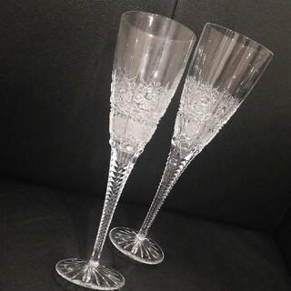 ボヘミア クリスタル(BOHEMIA Cristal)のボヘミアクリスタル♡エレガント♡ペアシャンパングラス(グラス/カップ)