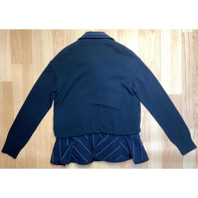 """sacai luck(サカイラック)のsacai luck サカイラック """"15ss 異素材ペプラムライダースJK"""" レディースのジャケット/アウター(ライダースジャケット)の商品写真"""