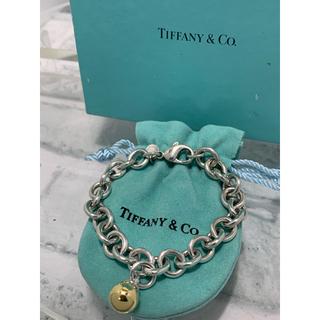 ティファニー(Tiffany & Co.)の美品 ヴィンテージティファニー  コンビ ボール リンクチェーン ブレスレット(ブレスレット)