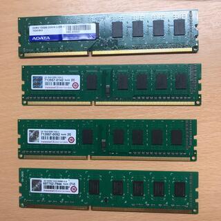 トランセンド(Transcend)のテスト未メモリー Transcend x3 ADATAx1 2GBx4 8GB(PCパーツ)