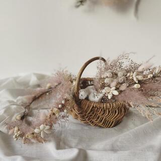 mini  bouquet & flower crown pink ver.(ドライフラワー)