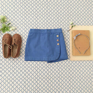 キャラメルベビー&チャイルド(Caramel baby&child )のSOORPLOOM OLIVESKORT 8y  BlueJay(スカート)