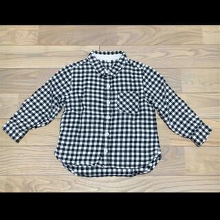 無印良品 MUJI トップス シャツ チェックシャツ ネルシャツ 100