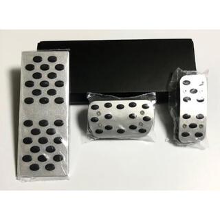 スバル(スバル)のSUBARU 高品質 アルミペダル AT用 フルセット ペダルカバー 工具不要(車内アクセサリ)