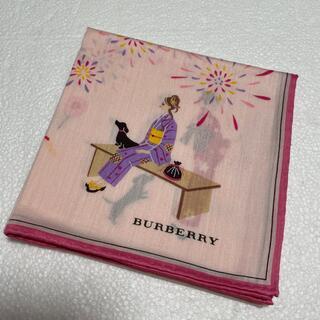 バーバリー(BURBERRY)の⭐️再値下げ⭐️バーバリー ハンカチ 女の子浴衣柄(ハンカチ)