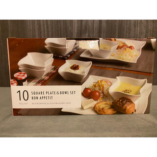 コストコ(コストコ)のコストコ 白い食器 10点セット 新品未使用(食器)