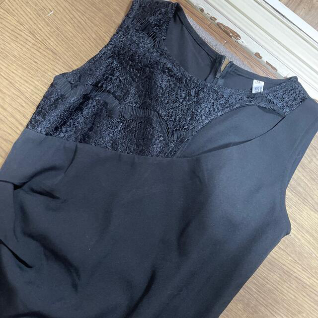 black 黒 キャバドレス M size 膝丈 ワンピース ドレス レディースのフォーマル/ドレス(ミディアムドレス)の商品写真