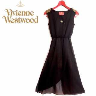 ヴィヴィアンウエストウッド(Vivienne Westwood)の希少 インポート ヴィヴィアンウエストウッド ラメ ドレス ワンピース(ロングドレス)