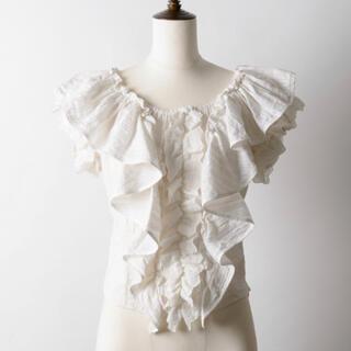 ラベルエチュード(la belle Etude)のla belle etude ボリュームフリルオフショルブラウス(シャツ/ブラウス(半袖/袖なし))