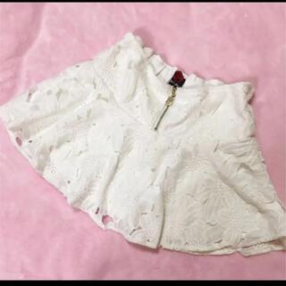 ダチュラ(DaTuRa)のDaTuRa フラワーレースビジュースカパン ホワイト(ミニスカート)