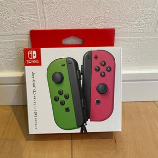 ニンテンドースイッチ(Nintendo Switch)の★新品未使用★ ニンテンドースイッチ ジョイコン ネオングリーン ピンク(その他)