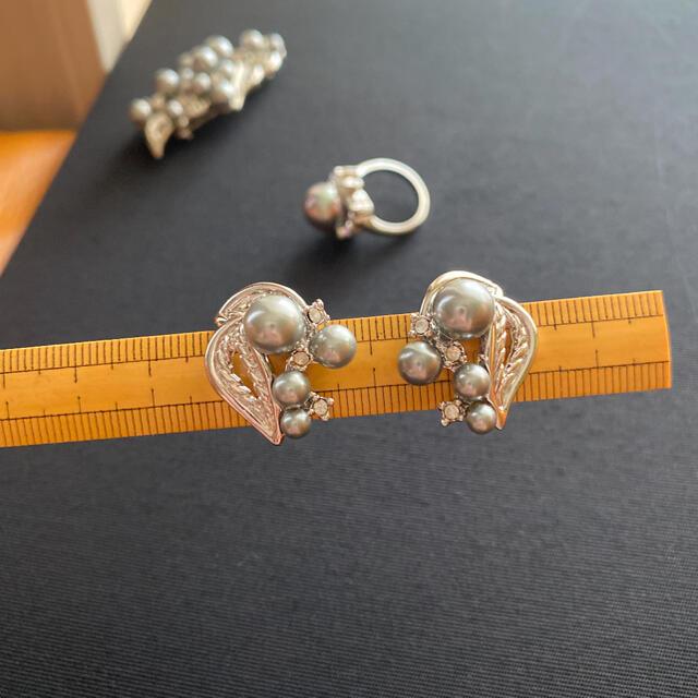 AVON(エイボン)のAVON ブローチ&イヤリング&指輪 3点セット レディースのアクセサリー(ブローチ/コサージュ)の商品写真