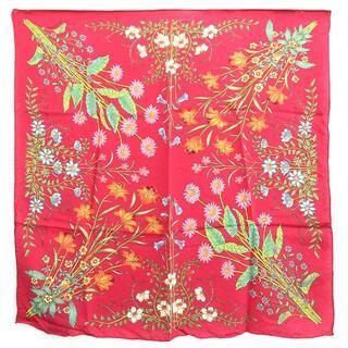 グッチ(Gucci)の グッチ スカーフ 528508 レッドピンク シルク(ストール/パシュミナ)