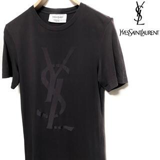 イヴサンローランボーテ(Yves Saint Laurent Beaute)のYVES SAINT LAURENT☆YSLロゴTシャツ☆ブラウン☆イタリア製☆(Tシャツ(半袖/袖なし))