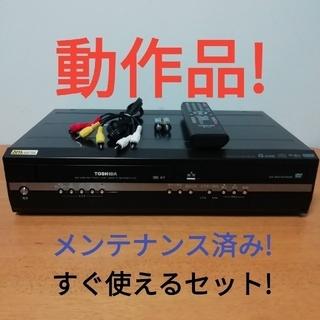 東芝 - 東芝 DVD一体型VHSビデオデッキ【D-VR7】