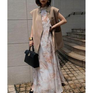 アメリヴィンテージ(Ameri VINTAGE)のFLOWER CHIFFON DRESS(ロングドレス)