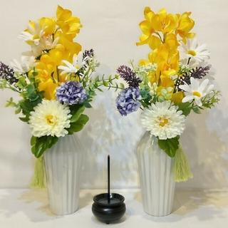仏花 造花 お仏壇の花 お墓の花 お手入れ不要 枯れない花 2束セット(その他)