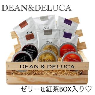 ディーンアンドデルーカ(DEAN & DELUCA)のディーン&デルーカ☆クレートBOX入り ゼリー&ティーセット(缶詰/瓶詰)