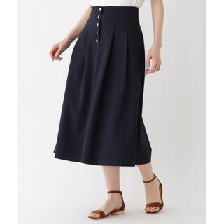 エージーバイアクアガール(AG by aquagirl)のAG by aquagirl ゴールドボタンドビースカート(ひざ丈スカート)