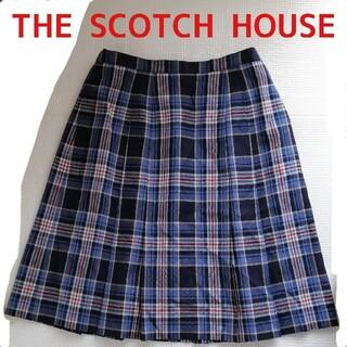 ザスコッチハウス(THE SCOTCH HOUSE)のTHE SCOTCH HOUSE 青系チェック柄プリーツスカート(ひざ丈スカート)
