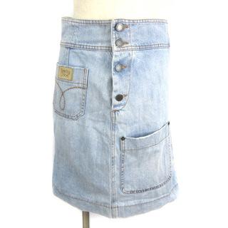 シーバイクロエ(SEE BY CHLOE)のシーバイクロエ デニム スカート ひざ丈 フロントポケット ブルー 38(ひざ丈スカート)