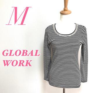 グローバルワーク(GLOBAL WORK)のGLOBAL WORK グローバルワーク 長袖トップス ボーダー柄 ビジュー(Tシャツ(長袖/七分))